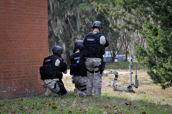 SWAT Members Dressed in Their Tactical Gear