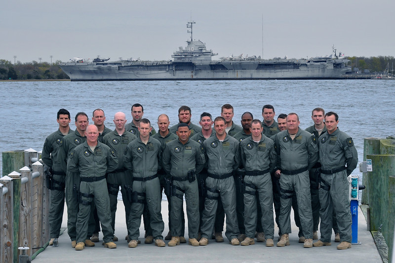 SWAT Team Group Photo in Front of the Water