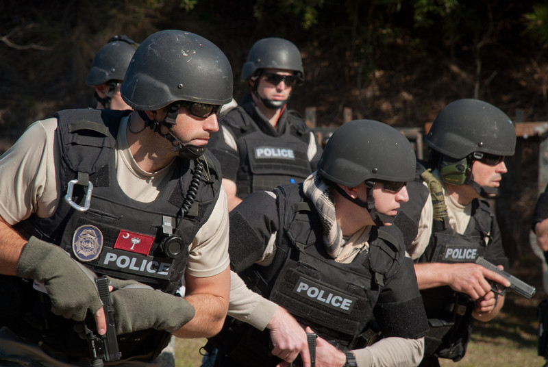 SWAT Members Prepared With Handguns