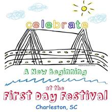 Celebrate a New Beginning at the First Day Festival - Charleston, SC Bridge Drawing