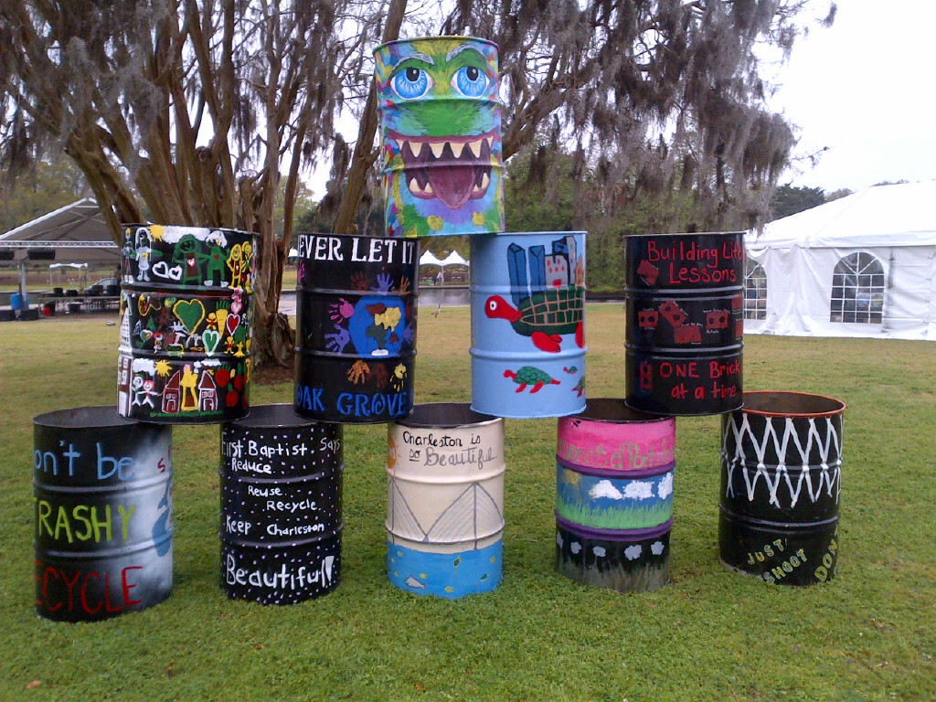 Decorated Trash Cans 2013