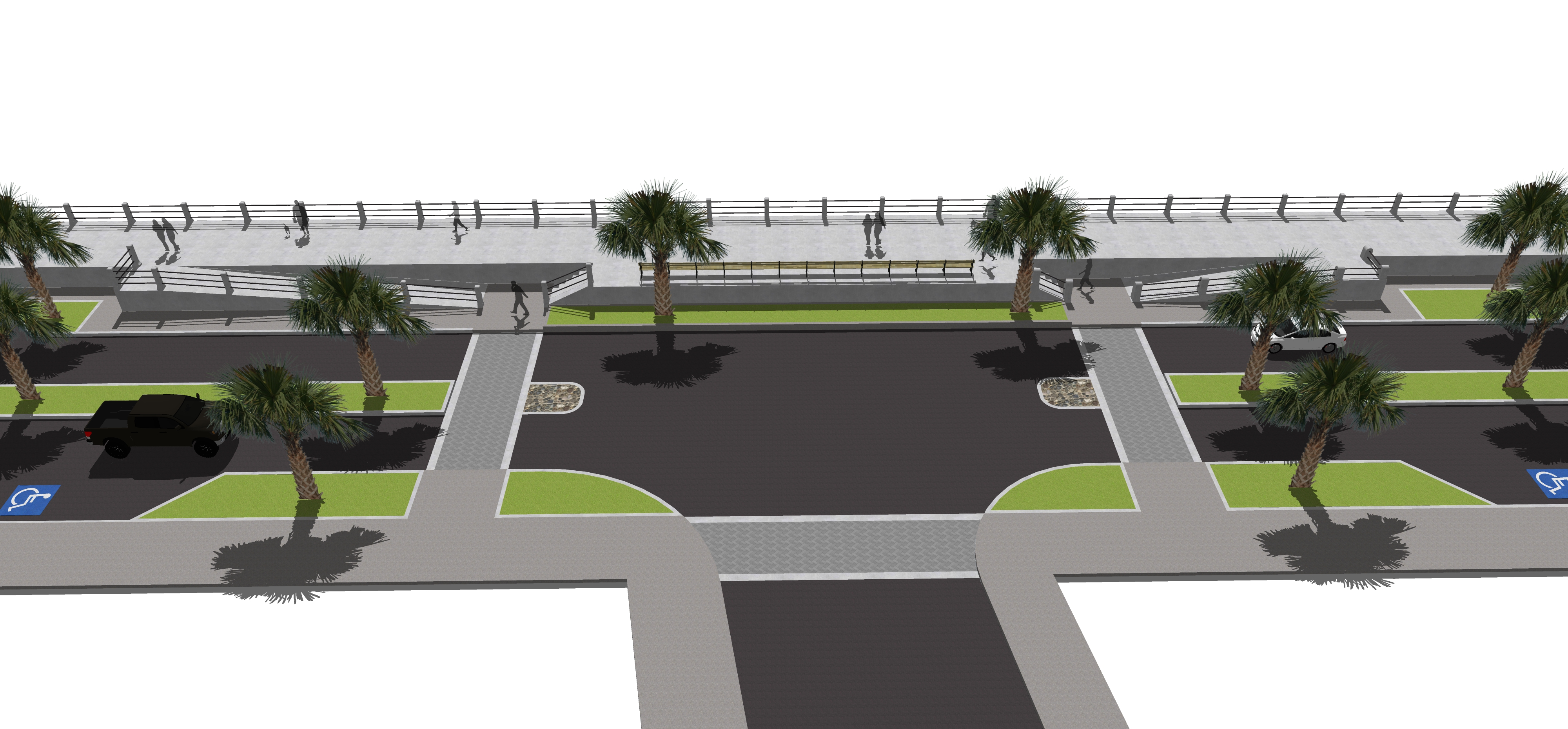 Low Batter Seawall Rendering