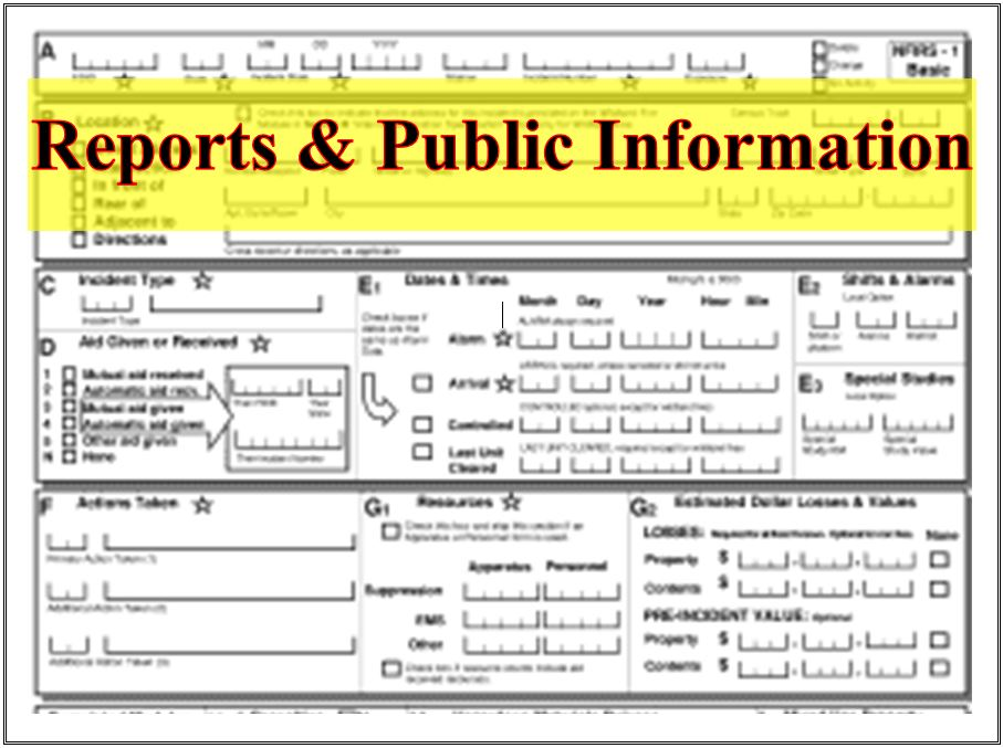 Reports and Public Information