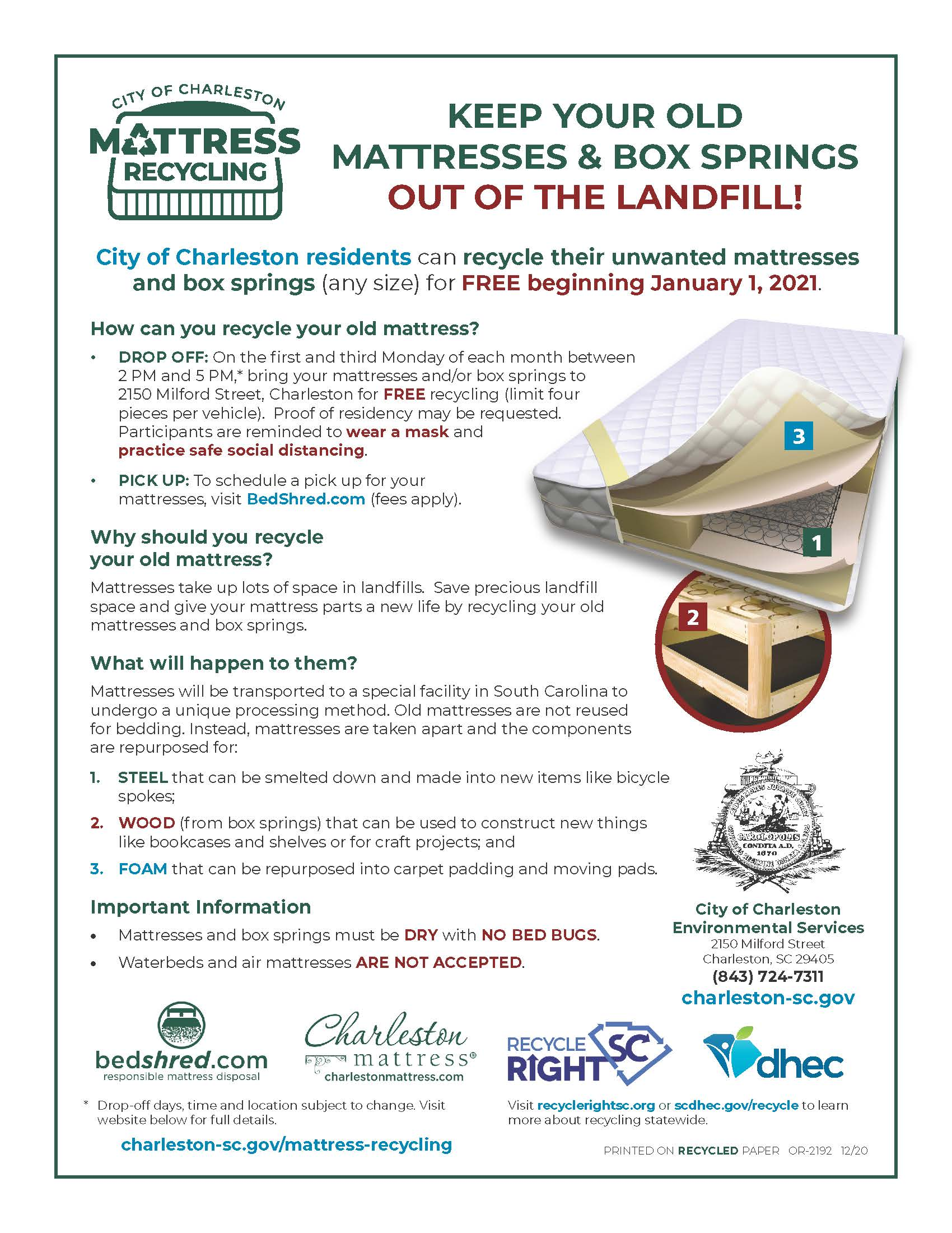 Mattress Recycling Flyer OR-2192