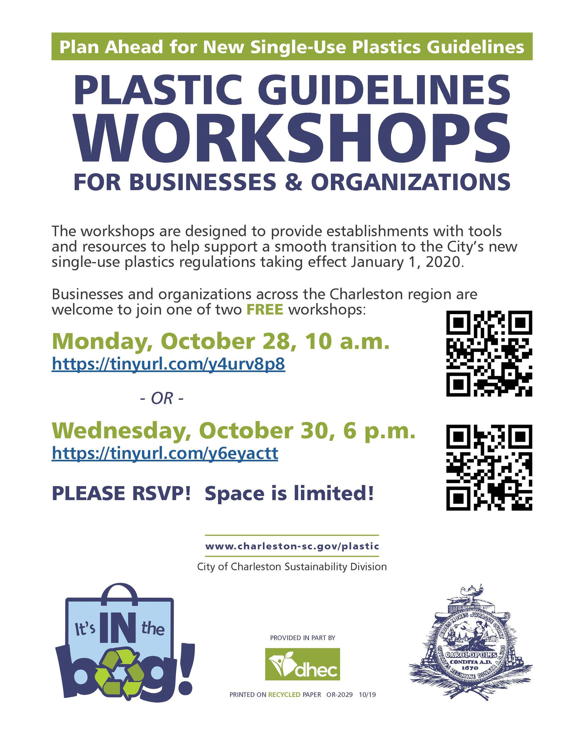 Flyer for Business Workshops October 2019 Opens in new window