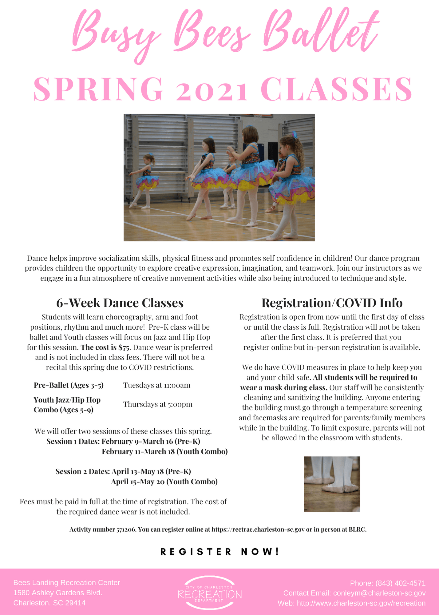 Busy Bees Ballet Spring 2020 Classes Opens in new window