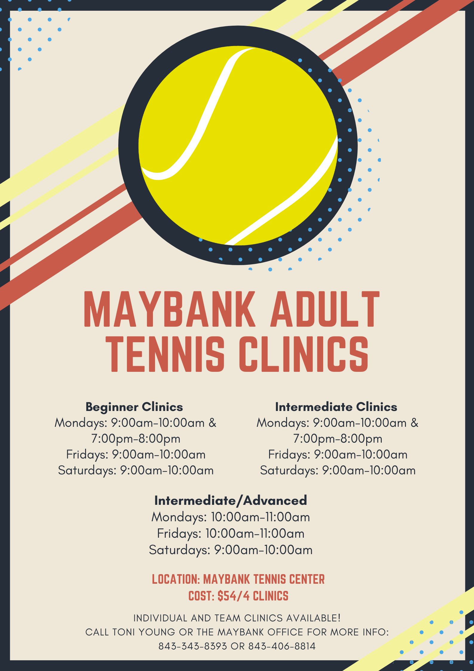 MTC Adult Tennis Clinics Opens in new window