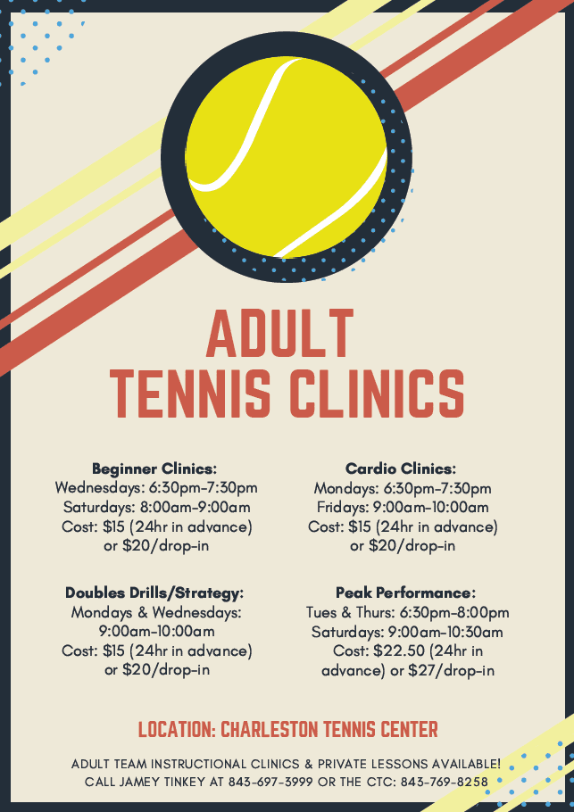 CTC Spring Adult Tennis Clinics Opens in new window
